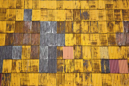 Texture background of yellow roof. photo