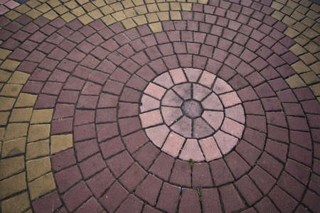 Circle brick background Stock Photo - 13677690