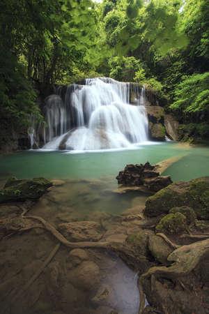 Deep forest Waterfall in Kanchanaburi, Thailand  Stock Photo - 14672095