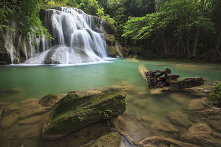 Huay mae kamin Waterfall, Kanchanaburi, Thailand  photo