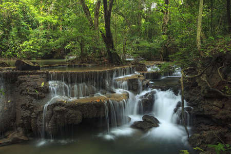 Waterfall and blue stream in the forest Thailand  photo