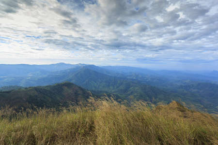 Mountain landscape in green wally, in Chang Puek mountains. photo