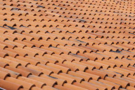 exact: Roof tiles background texture in regular rows