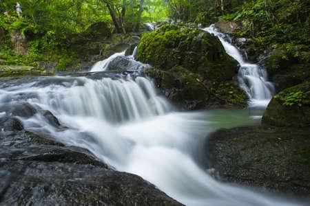 waterscape: Deep forest Waterfall in Saraburi, Thailand