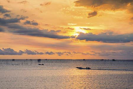 Beautiful sunrise in Pattaya, Thailand photo