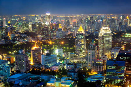 london skyline: Cityscape middle of Bangkok, Thailand Stock Photo