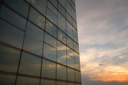 Windo reflect abstract sky sunset