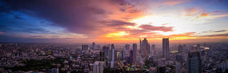Cityscape in center of bangkok in Thailand