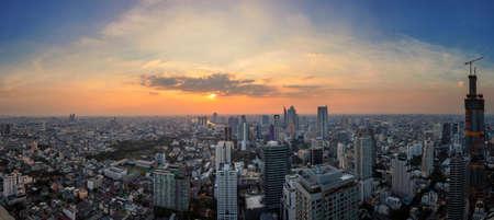 Bangkok panorama from the center of Thailand
