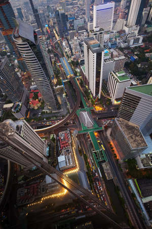 Cityscape from top view of Bangkok, Thailand Stock Photo