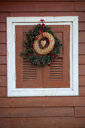 CHRISTMAS WINDOW AS TEXTURE BACKGROUND