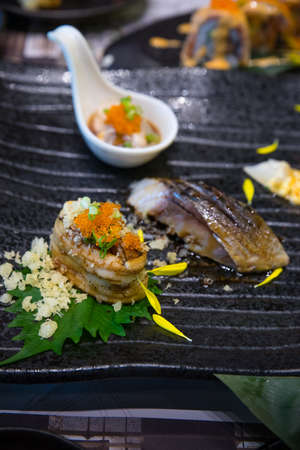 Japanese food as close -up Stock Photo