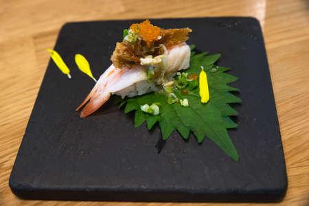Japanese food as close -up Archivio Fotografico