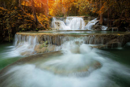 Waterfall in natural deep forest