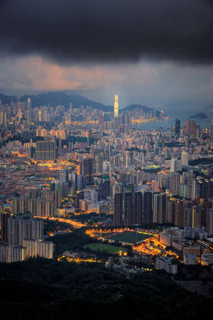 Cityscape from topview in Hongkong