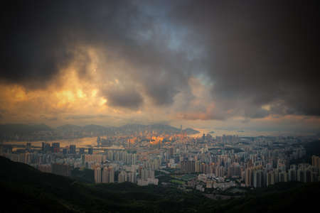 Cityscape from top view in Hongkong