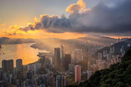 Hongkong cityscape sunset