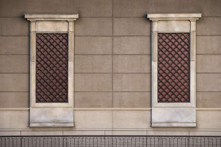 Brick wall window background texture