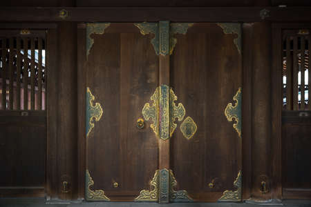 Japanese door as texture background