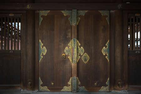 Japanese door as texture background
