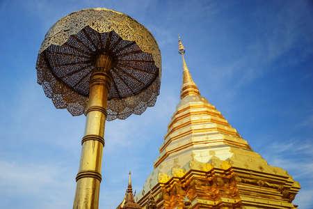 Golden pagoda in Chiangmai, North of Thailand