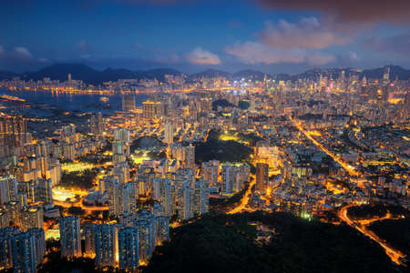 Night cityscape in Hongkong