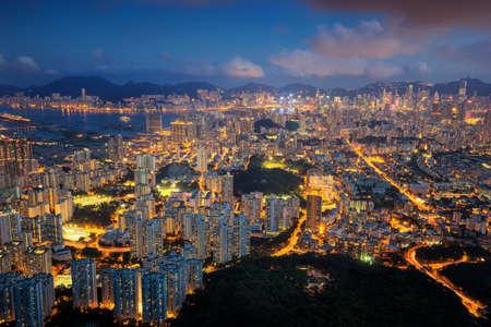 Night cityscape in Hongkong