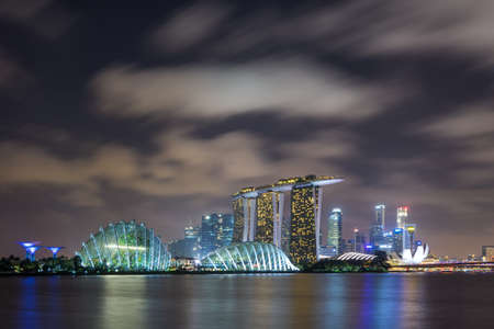 Singapore Skyline and view of Marina Bay on 12 February 2017