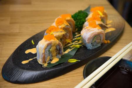 Sushi salmon roll