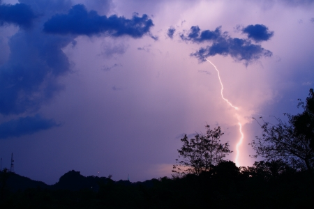 Thunderbolt at Phetchaburi Province Thailand photo