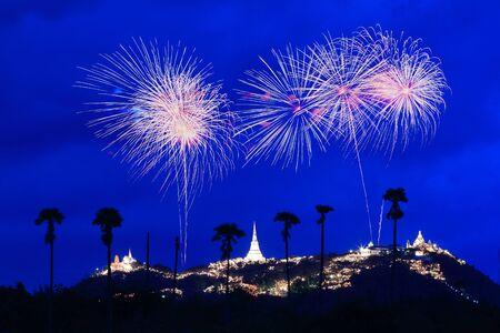 Fireworks at Pranakorn Khiri Fair Stock Photo - 15554792