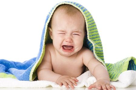갓 목욕 아기 스톡 콘텐츠