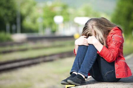 Young girl at the station