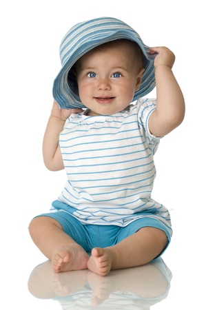Pretty baby with hat Stock Photo - 14335677