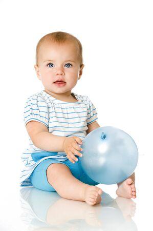Sweet baby avec le ballon Banque d'images
