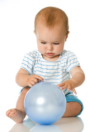 Sweet baby avec le ballon
