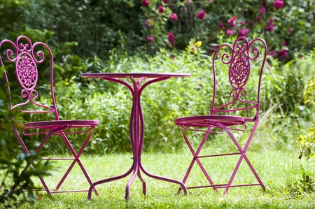 garden furniture: Garden furniture Stock Photo