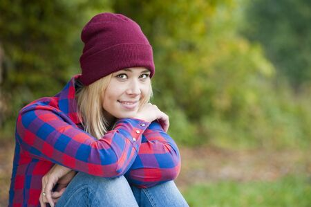 Young woman in autumn photo