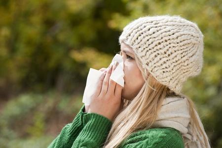 ragazza malata: Influenza