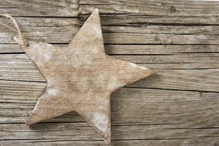 Star on wood