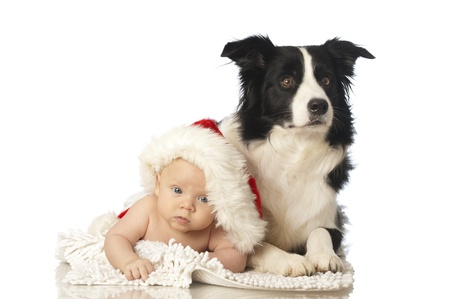 Baby with dog Stock Photo - 16519044