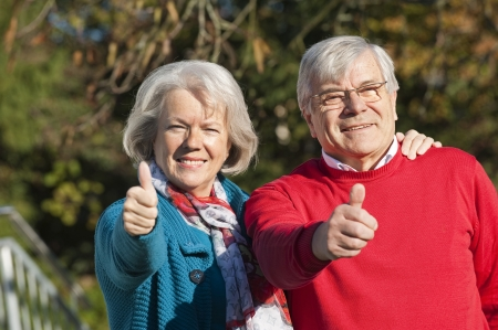 older person: Happy senior couple Stock Photo