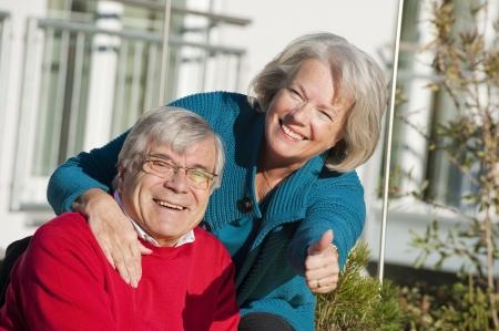 Happy senior couple Stock Photo - 17243792