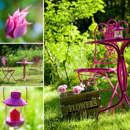 Garden collage Stock Photo