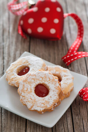 knave: Christmas cookies on wooden background