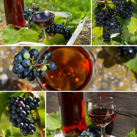 Wine collage photo