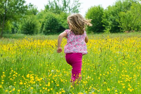 gril: Gril in a spring meadow