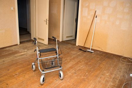 Rollator in a old vacated apartment