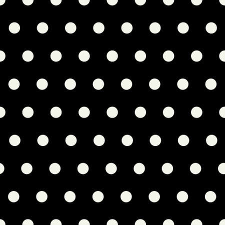 Seamless vector pattern with geometric white dot pattern with a black background. Great for fabric, scrapping book, paper, cards and invitaton designs. Stockfoto - 100183241
