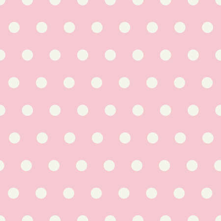 Seamless vector pattern with geometric white dot pattern with a pretty pink background. Great for fabric, scrapping book, paper, cards and invitation designs.